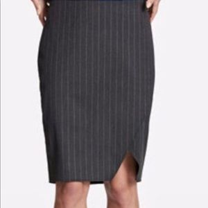 DKNY Women's Pinstriped Pencil Midi Skirt ChicEwe